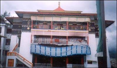 The Tawang Monastery, which was being renovated at that time