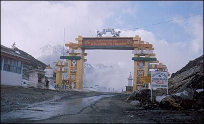 The gate at Sela Pass