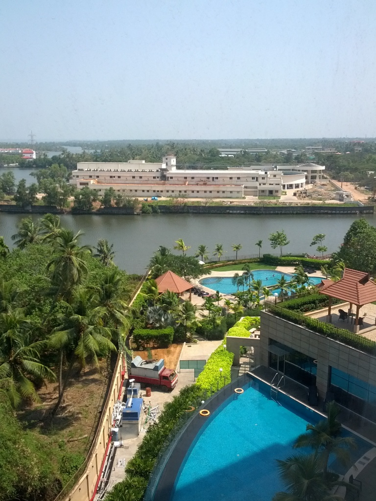 Two pools to choose from at the beautiful Crowne Plaza, Kochi