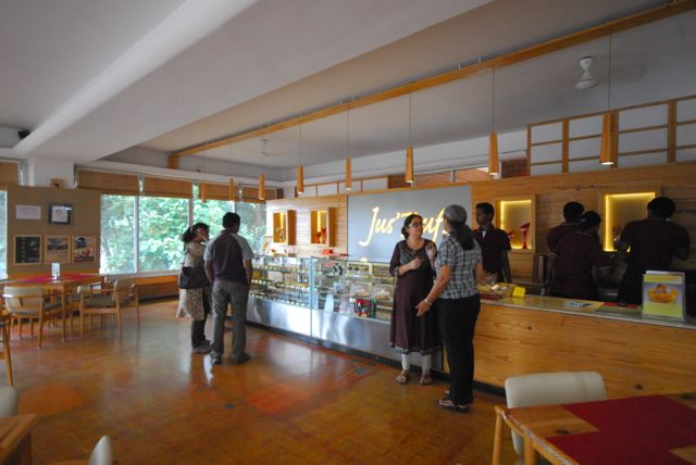 The cafe on the ground floor has a wide variety of eats and is a nice space to relax